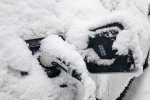 Stecker im Schnee